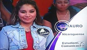 12 Corazones - When the contestants are introduced, the introduction includes their Zodiac sign, nationality or place of birth and their occupation. For example, this woman is a Taurus, Nicaraguan, and is currently in college studying communications.