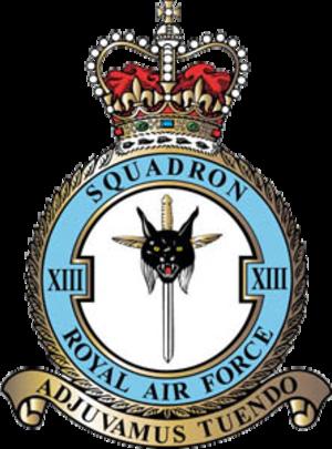No. 13 Squadron RAF - 13 Squadron badge