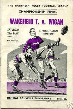 1959–60 Northern Rugby Football League season - Image: 1959 60 Northern Rugby Football League Championship Final booklet