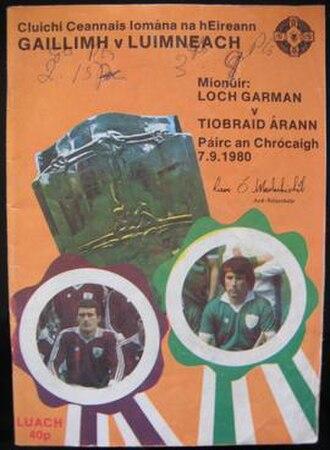 1980 All-Ireland Senior Hurling Championship Final - Image: 1980 All Ireland Senior Hurling Championship Final programme