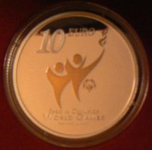 2003 Special Olympics World Summer Games - 2003 Special Olympics commemorative coin issued by the Central Bank of Ireland