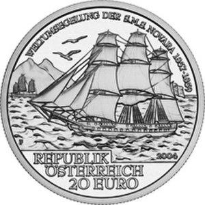 SMS Novara (1850) - S.M.S. Novara coin