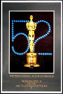 52nd Academy Awards Award ceremony presented by the Academy of Motion Picture Arts & Sciences for achievement in filmmaking in 1979