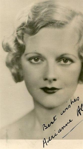 Adrianne Allen - photo by Dorothy Wilding, 1939