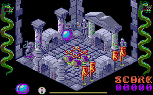 Airball (video game) - The starting screen (Atari ST).