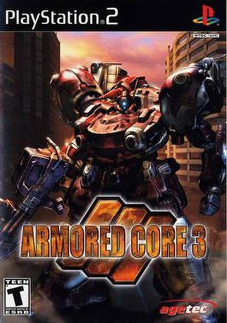 Armored Core 3 - North American PlayStation 2 cover art