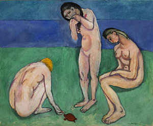 Bathers with a Turtle - Bathers with a Turtle (Baigneuses), 1907–08, oil on canvas, 71 1/2 x 87 in. (181.6 x 221 cm), Saint Louis Art Museum, St. Louis