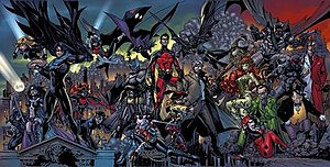 Batman: Battle for the Cowl - Poster art of Battle for the Cowl story arc. Art by Tony Daniel.