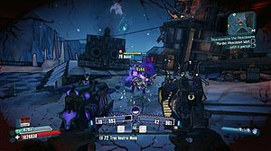 Borderlands 2 - Salvador utilizing his Gunzerker ability to dual-wield weapons.