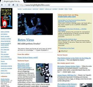 Bright Lights Film Journal - Home page screen shot
