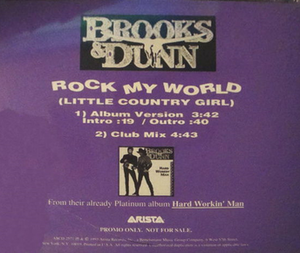 Rock My World (Little Country Girl) - Image: Brooks Dunn Rock my world