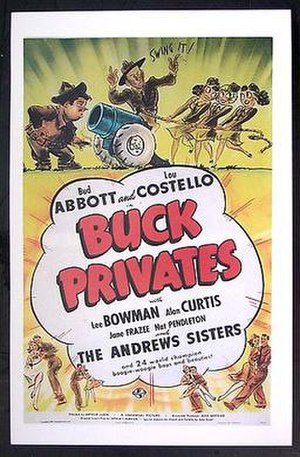 Buck Privates - Theatrical release poster
