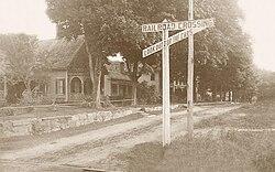 """""""Centra Avenuo, Nova Hartford"""", poŝtkarto de 1910"""