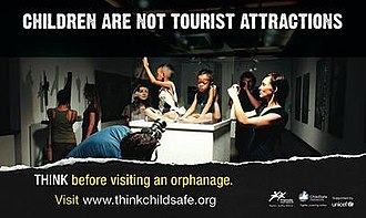Friends-International - ChildSafe poster from the international Children are not Tourist Attractions Campaign in 2011.