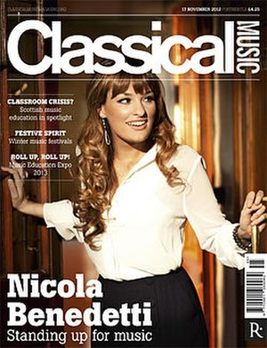 Classical Music (magazine) - Image: Classical Music magazine 17 November cover