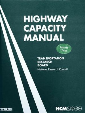 Highway Capacity Manual - Highway Capacity Manual fourth edition cover (HCM 2000).