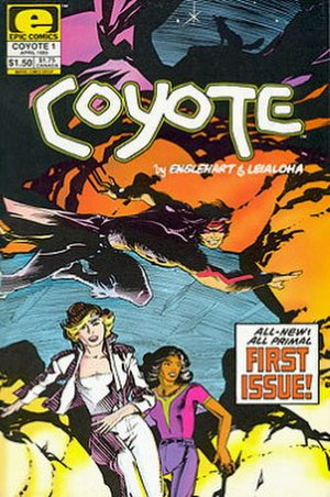 Coyote (comics) - Cover of the first Marvel issue