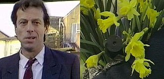 Den Watts - Den was shot by a man carrying a gun, hidden in a bunch of daffodils.