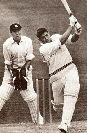 Dick Motz - Dick Motz hitting a six against the MCC in 1960-61