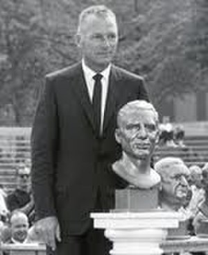 Don Hutson - Hutson at his induction to the Pro Football Hall of Fame in 1963