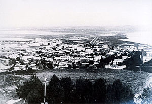 Congress of Durrës - The city of Durrës in 1918.