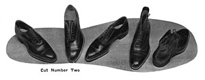 Endicott Johnson Corporation - Example of EJ's dress shoes from the 1920s