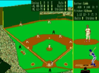 Earl Weaver Baseball - A screenshot from the Commodore Amiga version of EWB.