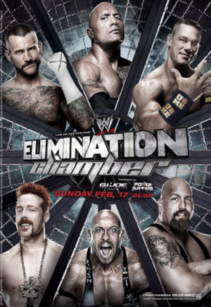 Elimination Chamber (2013) - Image: Eliminationchamber 2013poster