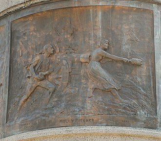 James E. Kelly (artist) - Molly Pitcher (1884), Monmouth Battle Monument, Freehold, New Jersey.