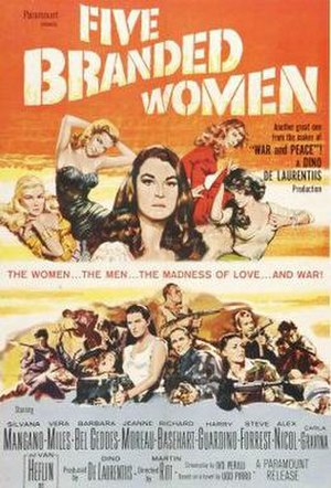 Five Branded Women - Film poster