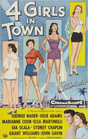 Four Girls in Town - Film poster by Reynold Brown