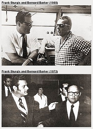 Frank Sturgis - Frank Sturgis and Bernard Barker, 1960 (top) and 1972