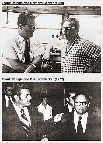 Frank Sturgis and Bernard Barker, 1960 (top) a...