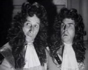 The Ghosts of Berkeley Square - Screenshot from the film, with Felix Aylmer and Robert Morley