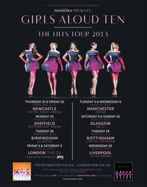 Ten: The Hits Tour - Promotional poster for the tour