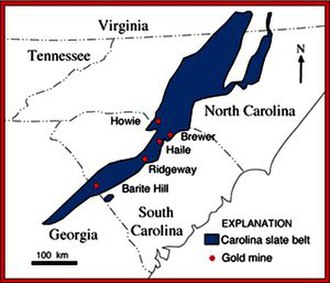 Gold mining in the United States - Gold mines in the Carolina Slate Belt - USGS.