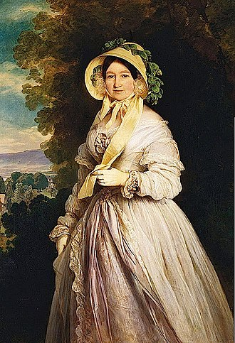 Princess Juliane of Saxe-Coburg-Saalfeld - Grand Duchess Anna Fyodorovna. Portrait by Franz Xaver Winterhalter, 1848.