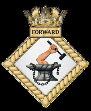 HMS Forward (shore establishment 1984) - Image: HMS Forward badge