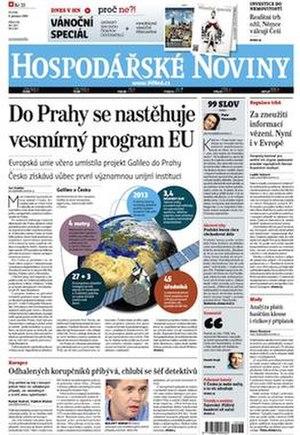 Hospodářské noviny - Image: Hospodarske Noviny 09Dec 2010