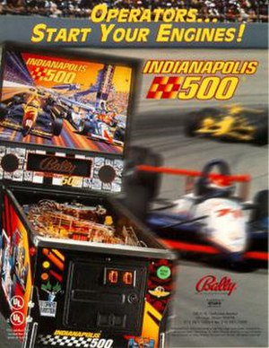 Indianapolis 500 (pinball) - Image: Indianapolis 500Pinball Flyer