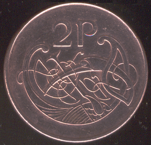 Two pence (Irish coin) - Image: Irish two pence (decimal coin)