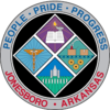 Official seal of Jonesboro, Arkansas