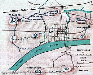 Battle of Fort Sanders - Defenses of Knoxville.