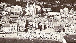 Laigueglia - Aerial view of Laigueglia in the 1970s.