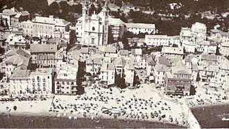 Laigueglia - Aerial view of Laigueglia in the 1970s