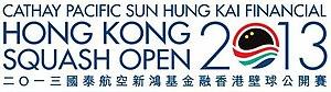 Women's Hong Kong squash Open 2013 - Image: Logo of Hong Kong squash open 2013