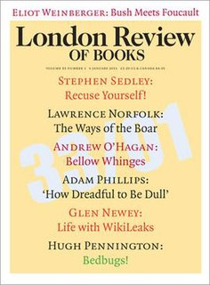 <i>London Review of Books</i> journal of literary reviews