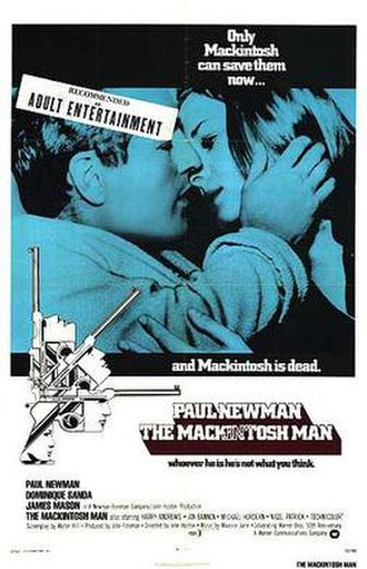 The Mackintosh Man - Original film poster by Tom Chantrell