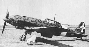 Macchi C.205 - Regia Aeronautica C.205V with a North Africa dust filter.