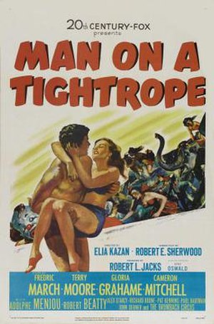 Man on a Tightrope - Theatrical poster